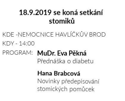 Setkání stomiků 18.9.2019